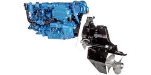Двигатели Nanni с поворотно - откидными колонками Mercruiser Bravo II для катеров и РИБ